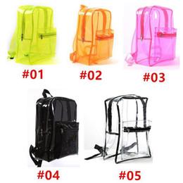 $enCountryForm.capitalKeyWord Australia - High Quality PVC Transparent Backpack Summer Beach Waterproof Clear Fashion Style Women Girls Travel Portable Shoulder School Bags