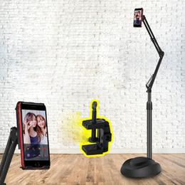 Floor Stands For Tablets NZ - Adjustable 2 In 1 Gooseneck Long Arm Tablet Floor Stand Desktop Phone Holder for 4.5-10.1 Inch Device