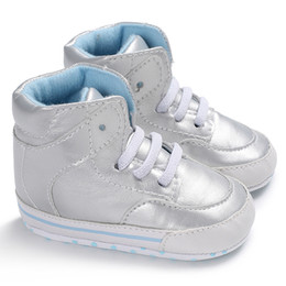 $enCountryForm.capitalKeyWord UK - Baby Sneakers Fashion High Top Girl Boys Shoes Newborn Toddler Soft Sole Footwear Kids Sports Shoe Baby First Walker PU Leather