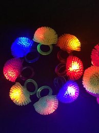 $enCountryForm.capitalKeyWord NZ - 500pcs lot Free Shipping Soft Jelly Glowing In The Dark LED Glow Finger Rings Light For Wedding Birthday Party Favor