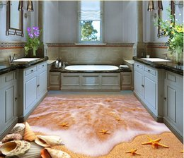 starfish moulds UK - self adhesive wallpaper Floor Beach Starfish TV background wall wallpaper for bathrooms