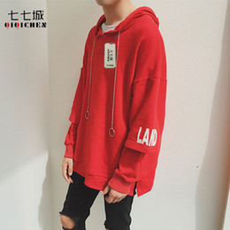 $enCountryForm.capitalKeyWord Canada - 2017 Autumn Fashion Men Women Oversized Hoodies Hip Hop Printed Solid Red Loose Pullover Korean Harajuku Streetwear Hoodie Men