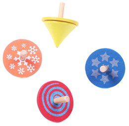 $enCountryForm.capitalKeyWord UK - Mini Multiple Shapes and Colors Wooden Spinning Top -Party Bag Fillers Perfect Gift For Kids Children