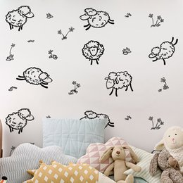 Cartoon Nature Australia - DIY Animal Cartoon sheeps Wall Stickers Mural Wallpaper Waterproof Removable Furniture Cabinets Art Creative Decal Kids Room Home Decorative