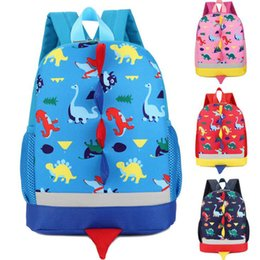 $enCountryForm.capitalKeyWord Canada - 100pcs lot Dinosaur Print Backpack For Boys Children backpacks kids kindergarten Small Girls Animal School Bags Backpack