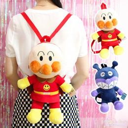Japan Cartoon Cute Bread Plush Bag Anpanman Bacteria Doll Backpack Children School For Girls Birthday Gifts