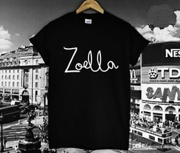 Wholesale Cotton Tees Australia - Wholesale-2016 NewWomen Tshirt ZOELLA Letter Print Cotton Funny Casual Hipster Shirt For Lady Whtie Black Top Tees TZ203-959