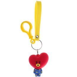 Chinese  KPOP BT21 BTS Bangtan Boys Keychain Album 8 Style KPOP BTS Key Chain Doll Pendant Leather Cord Kit manufacturers