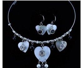 $enCountryForm.capitalKeyWord Canada - wonderful crystal heart bride wedding set necklace earings fdfgfdgf