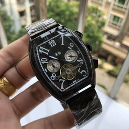 Wholesale Famous Luxury watch men watches Mechanical Automatic wristwatches Top Brand Big Numerals Dial Calendar Display Full Stainless Steel band