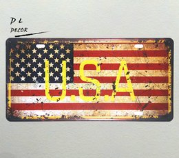 $enCountryForm.capitalKeyWord UK - DL-USA MAP License plate VINTAGE RETRO METAL WALL SIGN PLAQUE PICTURE CAR GARAGE