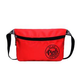 Chinese  Pink Fanny Pack Pink Letter Waist Belt Bag Beach Bags Waterproof Handbags Purses manufacturers