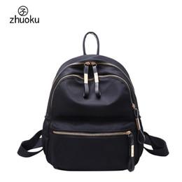 good quality girls school bags 2019 - School bags for teenage girls School backpack Double zipper Women Black Nylon Backpack good quality sac a dos femme rugz