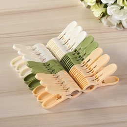 $enCountryForm.capitalKeyWord NZ - Convenient Laundry Clothes Pins Hangers Multi-function thickened plastic jumbo clamps, PP Plastic Spring Hanging Clips Clamps Clothes Lin