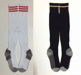 China 18  19 Ajax home white Soccer stocking adult's Knee High Cotton football socks away deep blue Thai Quality Thicken Towel Bottom Long Hoses cheap quality hose suppliers