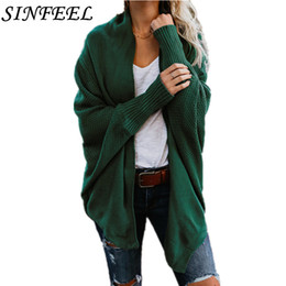 one size clothes Australia - SINFEEL Harajuku Long Cardigan Ladies Spring Fashion Long Knit Sweater Women Coat Casual Black Jacket Winter Clothing One Size