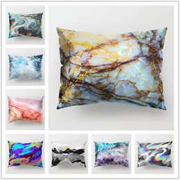 Dark grey beDDing online shopping - Latest Marble and Spindrift Printing Pillow Case Sofa Bed Home Car D Cushion Cover Rectangle cm