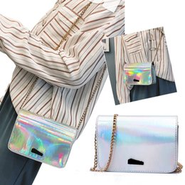 $enCountryForm.capitalKeyWord NZ - Shining Women Handbag With Chain Shoulder Crossbody Bags Waterproof Laser Holographic Girls Purse Messenger Bag Phone Cosmetic bag