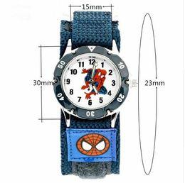 Venta al por mayor de PENGNATATE Niños Relojes Niños Spiderman Reloj de Mano Regalos Moda Luminosa Analógica Nylon Correa de Dibujos Animados Pulsera de Los Niños Reloj de Pulsera