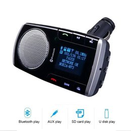 Music Car Kit Australia - FM Transmitter MP3 Music Player Wireless Bluetooth Car Kit 2.1A Car Charger HandsFree USB LED Screen with Remote Control