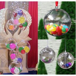 $enCountryForm.capitalKeyWord NZ - 12pcs Christmas Tres Decor Ball 6cm Transparent Open Plastic Clear Bauble Christmas Tree Ornament Gift Present Box GI879324