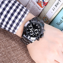 Wholesale new relogio masculino mens watches Luxury dress designer fashion Black Dial Calendar gold Bracelet Folding Clasp Master Male gifts couple