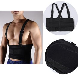 Wholesale Elastic Belt Ajustable Waist Support Brace Fitness Gym Lumbar with Strap Back Waist Supporter Protection for Men Sports Safety G446S