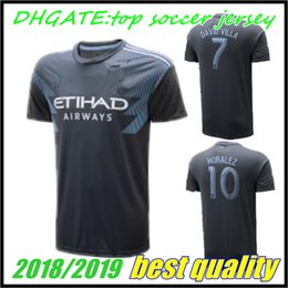 2ccf1df39 MLS 18 19 NYCFC New York City FC Soccer Jerseys PIRLO MIX DAVID VILLA  LAMPARD Away Blue Maillot De Foot 2018 2019 football shirts