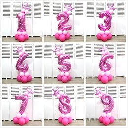 $enCountryForm.capitalKeyWord Canada - Fashion 32 Inches Helium Balloons Crown Number Shaped Aluminum Foil Balloon For Baby Shower Happy Birthday Party Decorations Supplies 5tk BB