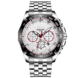 Lighting Calendar NZ - Third Eye Luxury Mens Watches Stainless Steel Calendar Big Dial Wristwatch Night Light Waterproof Silicone Strap Bisiness Men Watch