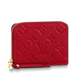 Chain Longer Australia - M63696 ZIPPY COIN PURSE Embossing rose red Real Caviar Lambskin Chain Flap Bag LONG CHAIN WALLETS KEY CARD HOLDERS PURSE CLUTCHES EVENING