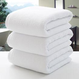 Оптовая продажа-новый 100 * 200 см хлопок спа-отель полотенце большая ванна пляжное полотенце бренд для взрослых салон красоты домашний текстиль ванная комната плавать Приморский на Распродаже