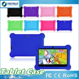 $enCountryForm.capitalKeyWord Australia - Anti Dust Kids Child Soft Silicone Rubber Gel Tablet Case Cover For 7 Inch Q88 Q8 A33 A23 Android Tablet pc MID Free shipping MQ50