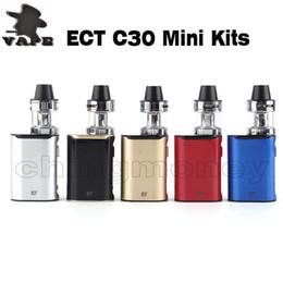 electronic cigarettes box mod 2019 - Authentic ECT C30 mini starter kits E Cigarette box mod 1200mah battery electronic cigarette vape mod 100% Original DHL