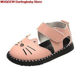 $enCountryForm.capitalKeyWord Australia - New Baby Sandals Fashion Sneaker Casual Lovely Cute Cartoon Cat Leather Baby Girl Summer Shoes Princess Beautiful Girls Shoes