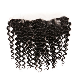body wave curly hair 2019 - 8A Ear to Ear 13x6 Full Lace Frontal Closures TOP 8A Brazilian Malaysian Straight Body Wave deep kinky curly Virgin Huma