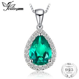 $enCountryForm.capitalKeyWord NZ - JewelryPalace Water Drop Created Emerald Pendants Genuine 925 Sterling Silver Fashion Fine Jewelry Not Include the Chain S18101308