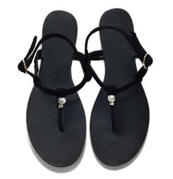 9c58dc9f329 2018 Newest Summer Black Leather Flats Sandals Shinny Crystal Beach Flip  Flops Woman Elegant Strap Casual Dress Sandals Shoes
