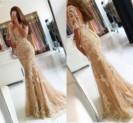 $enCountryForm.capitalKeyWord NZ - Champagne Tulle Mermaid Evening Dresses Robe Longue Femme Soiree Sexy Backless Long Plus Size Prom Gowns DH385