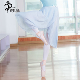 $enCountryForm.capitalKeyWord NZ - Ballet Leotards Long Skirt For Women  Ballet Chiffon Dancing Skirt Adult Dance Practice Dresses Dance Leotard Tutu Dress