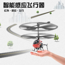 Micro Helicopter Toy Australia - Infrared Induction Mini Helicopter Anti-shock Indoor with LED Aircraft Suspended Induction Micro USB Helicopter Toy Kids Gift
