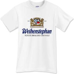 2e2b50af8 Marcas de cerveza online-WEIHENSTEPHAN camiseta de cerveza Brewery Promo camiseta  blanca camiseta negra Sz