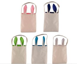 Wholesale gift baskets nz buy new wholesale gift baskets online easter gift packing handbags easter bunny ear bags hot sale diy embroider cotton linen basket bag tote bag negle Gallery