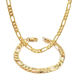18K WHITE GOLD FILLED SILVER FIGARO CHAIN SOLID MENS WOMENS GIRLS NECKLACE GIFT
