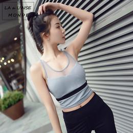 57079158101da Womens Mesh High Impact Push Up Sports Bra Sport Workout Yoga Bras Active  Wear For Fitness Women Gym Cross Crop Top Activewear