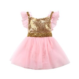 $enCountryForm.capitalKeyWord NZ - Baby Girls Party Sequins Lace Tulle Gown Fancy Dress Sundress Little Girl Princess Wedding Birthday Christmas dress for girl