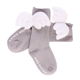 Mother & Kids Socks, Tights & Leggings Cute Baby Kids Ruffles Soft Warm Socks Knitted Autumn Winter Angel Wings Knee High Socks White Pink Beige Grey 0-4y Superior Performance