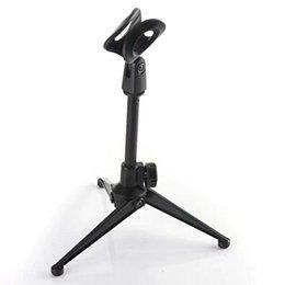 Verstellbare faltbare Stativ Desktop Mikrofon Ständer Halter mit Mikrofon Clip für Meetings, Vorträge, Podcasts und mehr