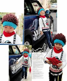 $enCountryForm.capitalKeyWord Australia - Fashion Newborn Cute Baby Photo Props Handmade Knitted Fake Hair Hat Pant Set Cartoon Infant Phography Shoot Accessory PZ034