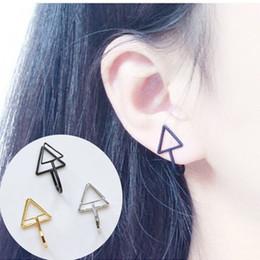$enCountryForm.capitalKeyWord NZ - EK311 Hot Fashion Brincos Clip Earring Punk Men Simple Triangle Non-pierced Ear Bone Cuff Earring for Women Jewelry Pendientes
